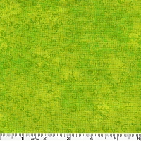 Quilting Temptations Swirls - Lime Green