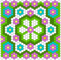 Free Hexagon Quilt Layout