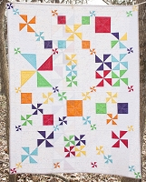 Pinwheel Party Quilt Pattern - PDF