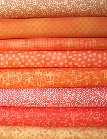 Bright Orange Fabric Bundle