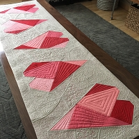 Heart to Heart Table Runner Pattern - PDF