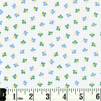 Naptime Flowers on Dots - Lake Blue