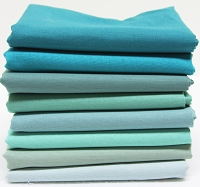 Bella Solids Fabric Bundle - Teal