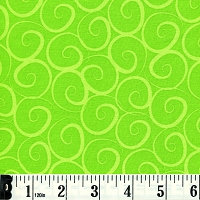 Boutique Brights Swirls - Lime Green