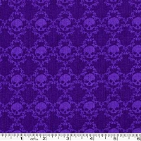 Witches Brew Tonal Skulls - Purple