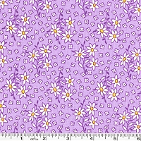 Nana Mae Scattered Daisies - Purple
