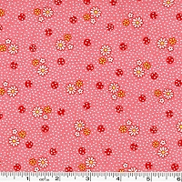 Old New 30's Tiny Daisies & Dots - Pink