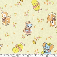 Old New 30's Baby Animals - Light Yellow