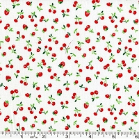 Old New 30's Cherries & Strawberries - White