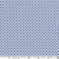 Retro 30's Child Smile Dots - Blue