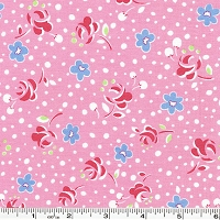 Retro 30's Child Smile Pressed Flowers - Pink