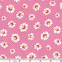 Retro 30's Child Smile Daisies & Dots - Pink