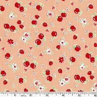 Retro 30's Child Smile Strawberries & Apples - Peach