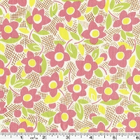 Retro 30's Child Smile Flower - Pink