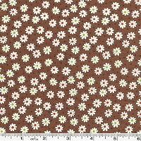 Retro 30's Child Smile Tiny Flowers & Dots - Brown