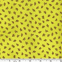 Sophie Leaf - Green Peas - 2 yard bolt end