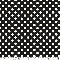 Small Le Creme Dot - Black