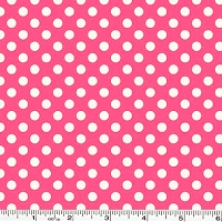 Small Le Creme Dot - Hot Pink
