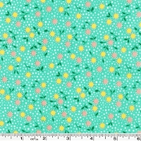Bunny Tales Flower Dots - Aloe Green