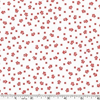 Pretty Posies Ditsy Flower Toss - Red