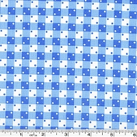 Penny's Pets Gingham Dot - Evening Blue