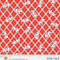 Toy Box Miniatures Elephant Plaid - Red