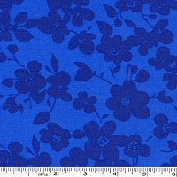 Spin Tonal Floral - Royal Blue