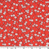 Storybook Playtime Daisy Lattice - Red