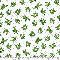 Storybook Vacation Leaping Frogs - Green