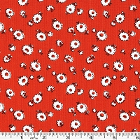 Storybook Vacation Tumbling Daisy - Red