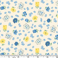 Spring Showers Piggy Banks - Blue/Yellow