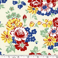 Fall Frolic Large Floral - Ivory