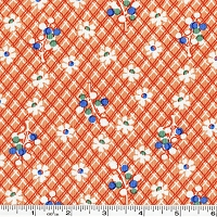 Fall Frolic Floral Lattice - Orange