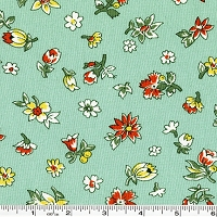 Fall Frolic Small Floral - Seafoam Green