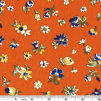 Fall Frolic Small Floral - Orange