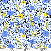 Feedsack Wildflowers - Blue
