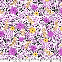 Feedsack Wildflowers - Purple