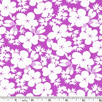 Feedsack Silhouette Flowers - Purple