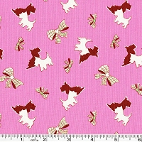 Toy Chest Conversationals Scotties & Bows - Pink