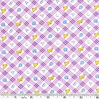 Toy Chest Conversationals ABC Plaid - Purple
