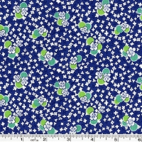 Toy Chest Florals Pansies - Navy