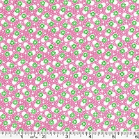Toy Chest Florals Daisies & Dots - Pink