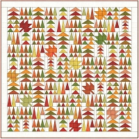 Leaves in the Forest Quilt Fabric Kit