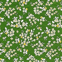 Feedsack Outline Floral - Green