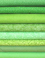 Bright Green Fabric Bundle
