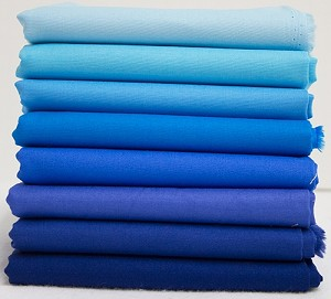 Bella Solids Fabric Bundle - Blue