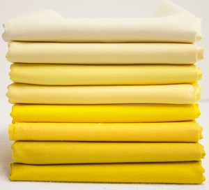 Bella Solids Fabric Bundle - Yellow