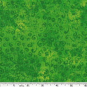 Quilting Temptations Swirls - Kelly Green