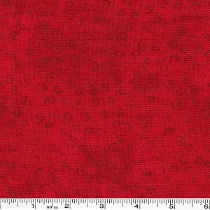 Quilting Temptations Swirls - Red