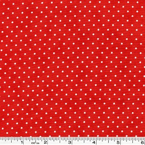 Moda Essential Dots - Christmas Red